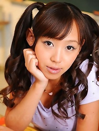 Lovely Japanese schoolgirl Nagisa