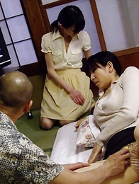 Teen Aoba Itou gets in threesome